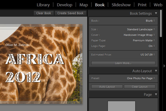 Photobook with Lightroom