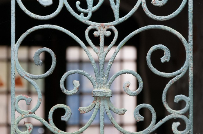 Olde Cast Iron Grid at a private doorway
