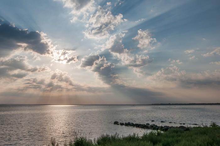 God beams over Kattegat