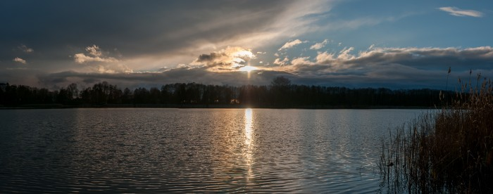 Sunset over Gorinsee.