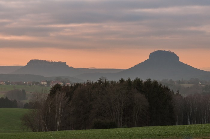 View to the famous landscape of Saxon Switzerland