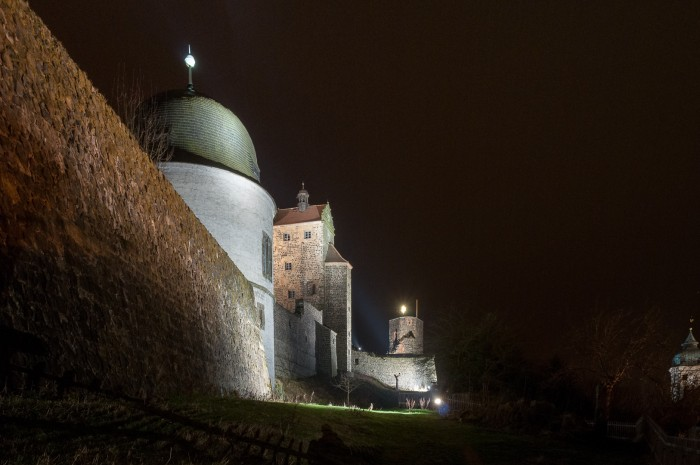 Fortress Stolpen at night