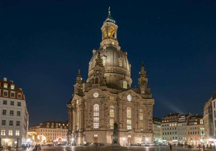 Dresdens rebuilt Frauenkirche (Church of the Lady)